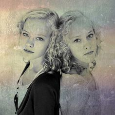 Twins portrait #1 by Oude School, via Flickr