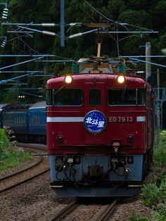 Sleeper limited express Hokutosei,in Hokkaido,Japan