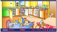Home Safety interactive story.  Try to find all the home safety hazards as you read.