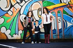 Non-Traditional Family Photography   Stella Dolce Photography www.stelladolcephotography.com   #samesex #alt #family #mural #nontraditional