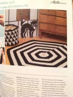 Crochet hexagon rug | Mollie Makes Issue 44