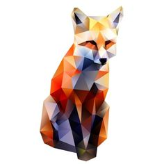 Jonathan Puckey - Delaunay Raster www. Jonathan Puckey – Delaunay Raster www.creativeboysc… -Read More – Low Poly Art, Animal Art, Geometric Fox, Geometric Portrait, Illustration Design, Art, Polygon Art, Fox Art, Delaunay