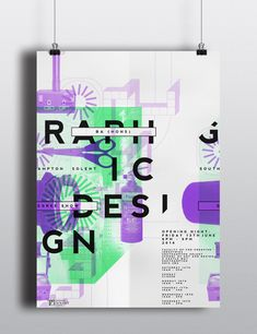 Solent graphic design degree show poster by Lilly Marfy, via Behance
