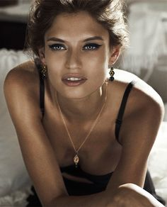 Natural look boudoir face still accentuates the eye!  sexy makeup Biance Balti for Dolce & Gabbana F/W 2011