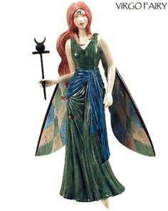 Zodiac Fairy-Virgo- 1 Left- YULE pagan wiccan witchcraft magick ritual supplies