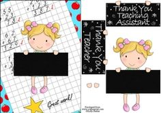 Thank You Teacher And Teaching Assistant Cutie Pie Kids Girl 6 on Craftsuprint - View Now! Quick Cards, Your Teacher, Girls 4, Kids Girls, Thank You Cards, Decoupage, Card Making, Pie, Teaching