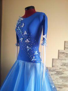 Blue Ballroom Dress - For Sale Selavidance.com