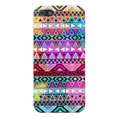 Pink Purple Bright Andes Abstract Aztec Pattern iPhone 5 Covers