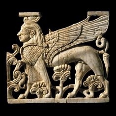 Ivory plaque depicting a winged sphinx Phoenician, century BC, Found at Fort Shalmaneser, Nimrud (ancient Kalhu), northern Iraq British Museum Ancient Mesopotamia, Ancient Civilizations, Ancient Egypt, Ancient History, Art History, Ancient Greek, British Museum, Sphinx, Ancient Near East