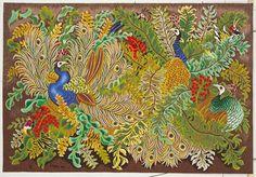 Dom Robert un grand nom de la tapisserie d'Aubusson : Dom Robert, Embroidered Bird, Needlepoint Canvases, Tapestry Weaving, William Morris, Rug Hooking, Bohemian Decor, Needlework, Creations