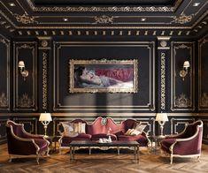 Luxury House Interior Design Tips And Inspiration Luxury Home Decor, Luxury Interior Design, Interior Design Inspiration, Luxury Homes, Design Ideas, Dark Interiors, Classic Interior, Living Room Designs, Decoration