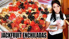 JACKFRUIT ENCHILADAS! (RECIPE?!) - #TastyTuesday (Some cursing, you've been warned)