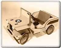 Foot Powered Army Jeep Plans Watch your favorite little ones stomp around in this rugged Willys style jeep for hours on end using their own . Boat Projects, Diy Projects, Wooden Go Kart, Soap Box Cars, Geek Baby, Man Crafts, Wood Carving Designs, Pedal Cars, Wood Plans