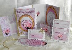 - A full set of wedding stationary. Includes, wedding invite front, and a choice of 2 insides, one you add just a few words,. Wedding Stationary, Wedding Invitations, Wedding Anniversary Cards, Place Names, Box Cake, Name Cards, Pink Lace, Lace Wedding, Envelope