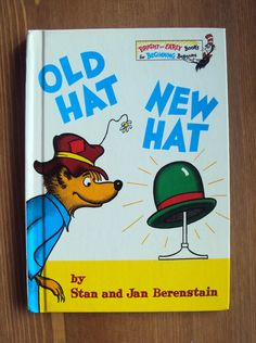 Old Hat New Hat (1970) by Stan and Jan Berenstain - A Bright and Early Book - Vintage Children's book