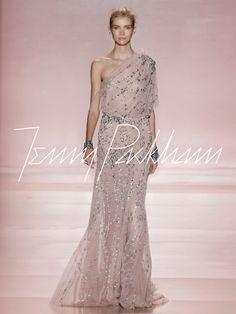 Love this blush tone one sholuder design  J Packman