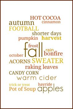 Fall Subway Art Free Printable | On Sutton Place Fall words