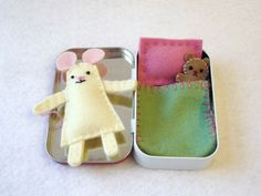 Minty Mouse. Looks pretty easy to make and so cute. I would have loved this as a kiddo.