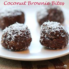 Coconut Brownie Bites | Healthy Recipes Blog
