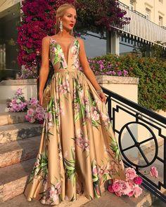 78c2612b8 vestido agilita longo floral Vestido Agilita, Vestido De Festa Estampado,  Vestido De Festa Longo