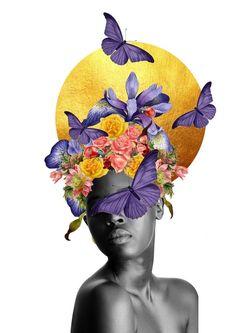 Face Collage, Collage Art, Black Women Art, Black Art, Arte Black, Collage Illustration, Dope Art, Surreal Art, Female Art