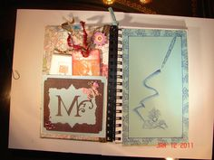 Inside pocket contains bookmark, notecards.  Blue panel is placed on top of the pocket for a smooth writing surface.