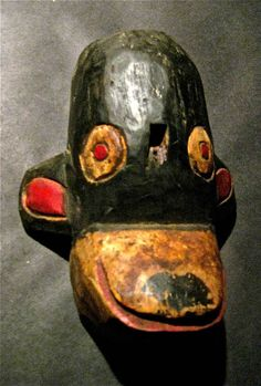 Rustic Mexican Indian Mickey Mouse Mask Has Smile Charm. $235.00, via Etsy.
