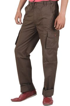 Buy Branded & Comfortable SAPPER Coffee Cargo Cotton Lowers Online at GetAbhi.com http://tinyurl.com/zkcrw9v