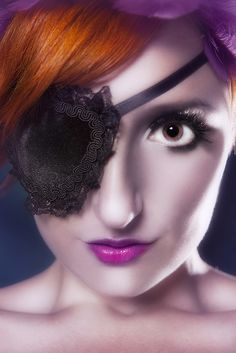 Gothic Lolita Black Velvet Eye Patch. $14.00, via Etsy. For a certain someone in Pt. 2.
