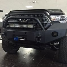 Image may not reflect your exact vehicle! Expedition One® - RangeMax Bare Steel Front Bumper with Center Hoop