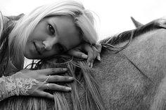 horse and girl + closeup