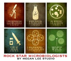 6 Microbiology Postcards Microbiologists Science by meganlee