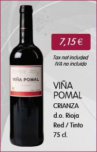 Viña Pomal Crianza - 75 Cl. (Red wine with D.O. Rioja) www.vinoole.com