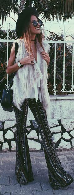 Take a look at the best what shoes to wear with flare pants in the photos below and get ideas for your outfits! Fashion, pant suit white green boho ethnic look vintage fashion model magazine embroidered shoes sandals Image… Continue Reading → Hippie Chic, Bohemian Mode, Boho Chic, Gypsy Style, Hippie Style, Boho Style, Boho Fashion, Fashion Outfits, Winter Fashion