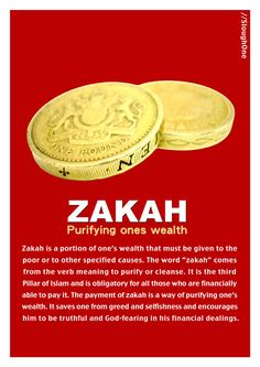 this zakah is 2.5 % of certain wealth necessary for every one to pay who has enough wealth can you imagine IF everyONE in the world payed zakah what chances would poverty have money would circulate evenly rather than concepts like interest which make the rich richer and the poor even more poor. may we all be guided to pay our zakaah (charity) and contribute towards ending the POVERTY of all the needy people ON the globe. lets try our best to make people's poverty HISTORY WITH ALLAH'S…