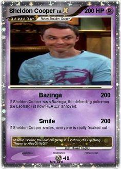 The Sheldon Cooper Trading Card Giggles Pokemon Funny