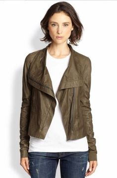 Vince Lambskin Paper Leather Jacket  Size:M   $995 NWT #Vince #BasicJacket