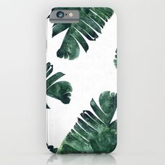 iPhone & iPod Case featuring Banana Leaf Watercolor Pattern by The Design Label™ Apple Iphone 6s Plus, Ipod, Best Gift For Wife, Gifts For Wife, Cute Cases, Cute Phone Cases, Iphone 5 Cases, Iphone 4s, Samsung S6 Edge