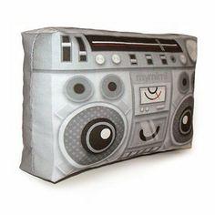 Mini Pillow BoomBox by mymimi on Etsy on Wanelo