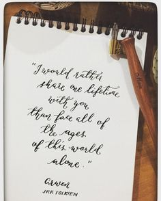 """I would rather share one lifetime with you, than face all of the ages of this world alone""    #busybeestationery #stationery #stationerylover #stationeryaddict #craft #pen #pens #penmanship #paper #ink #inks #calligraphy #writing #write #handwriting #typography #letters #envelope #words"