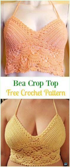 Crochet Bea Crop Top Free Pattern-#Crochet Summer Halter #Top Free Patterns