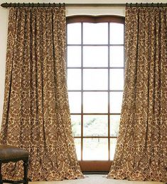 Beautiful Vintage Nettex Boulevard Gold Neutral Stripe Print Curtain Fabric Sale 100% Original Curtains, Drapes & Valances Home & Garden