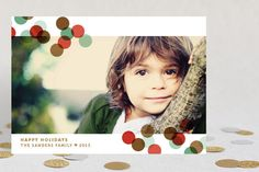 Confetti Toss Holiday Postcards by Kristie Kern at minted.com