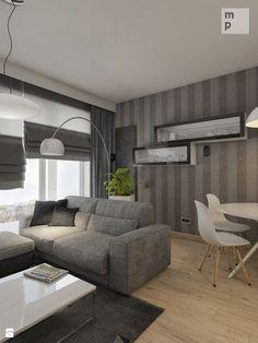INTERIOR | Mieszkanie M3 - Warszawa - Salon, styl nowoczesny - zdjęcie od Manufaktura Projektów