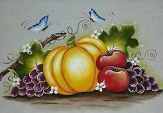 ♡ One Stroke Painting, Tole Painting, Fabric Painting, Beautiful Christmas Decorations, Paint Party, Art Boards, Food Art, Flower Art, Decoupage