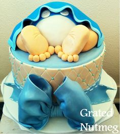 This is a tutorial on how this baby rump cake was made. This cake is best used for baby showers and the color reflects the sex of the baby. I…