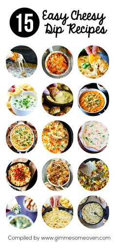 15 Easy Cheesy Dips