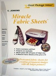 Miracle Fabric Sheets - from the Bubble Jet Set Company