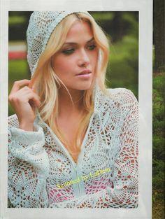 Crochetemoda: Blusa de Crochet com Capuz