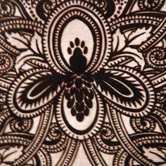 drapery fabrics - floral fabrics - Wanaque Chocolate Floral Velvet Upholstery Fabric by Robert Allen